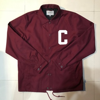《古著》Carhartt WIP 教練外套 材質特殊 絕版品 酒紅 刺繡logo 新北市