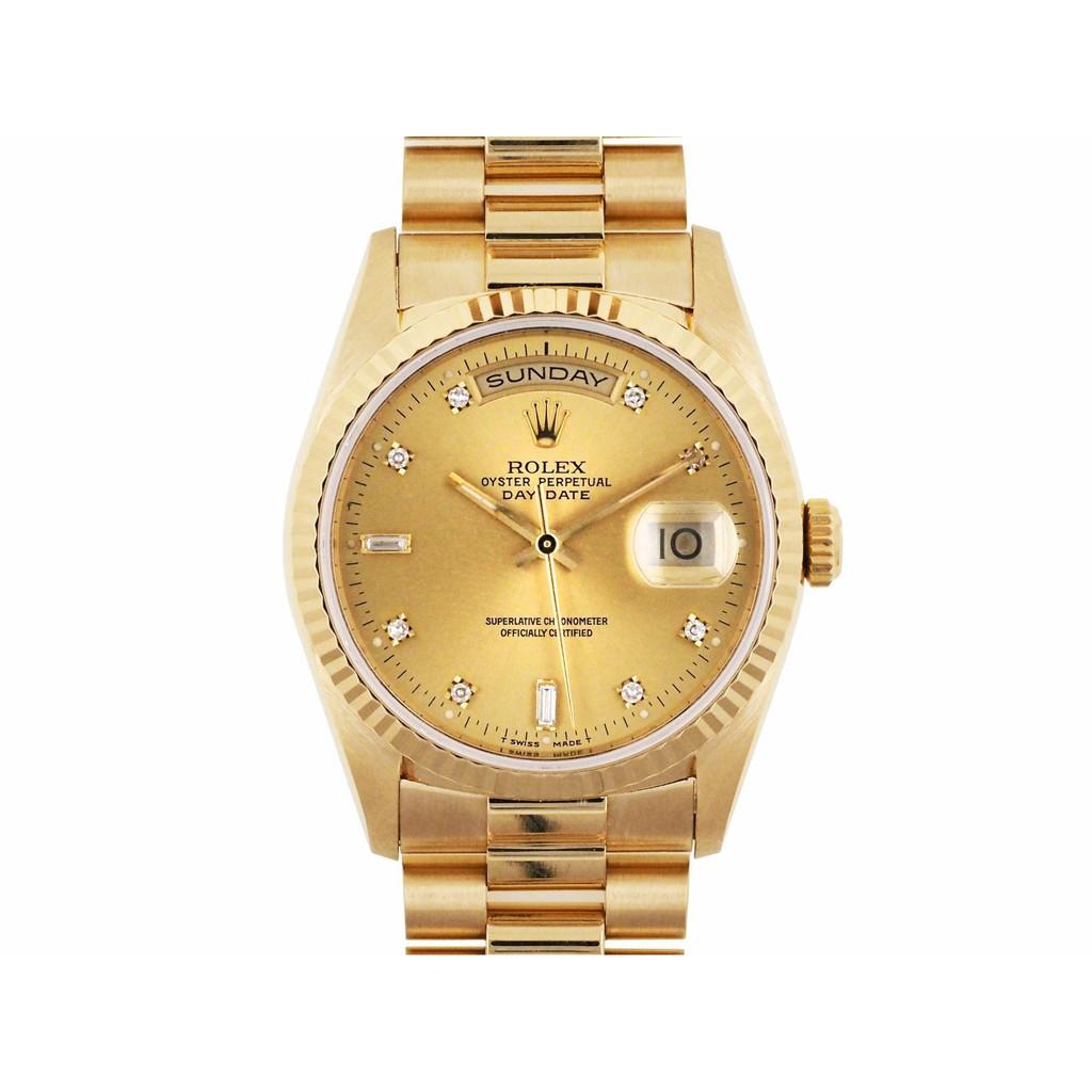 【久大御典品】ROLEX 勞力士 18238 機械男錶 紅蟳 18K金材質 保證原廠真品 編號:M100224R
