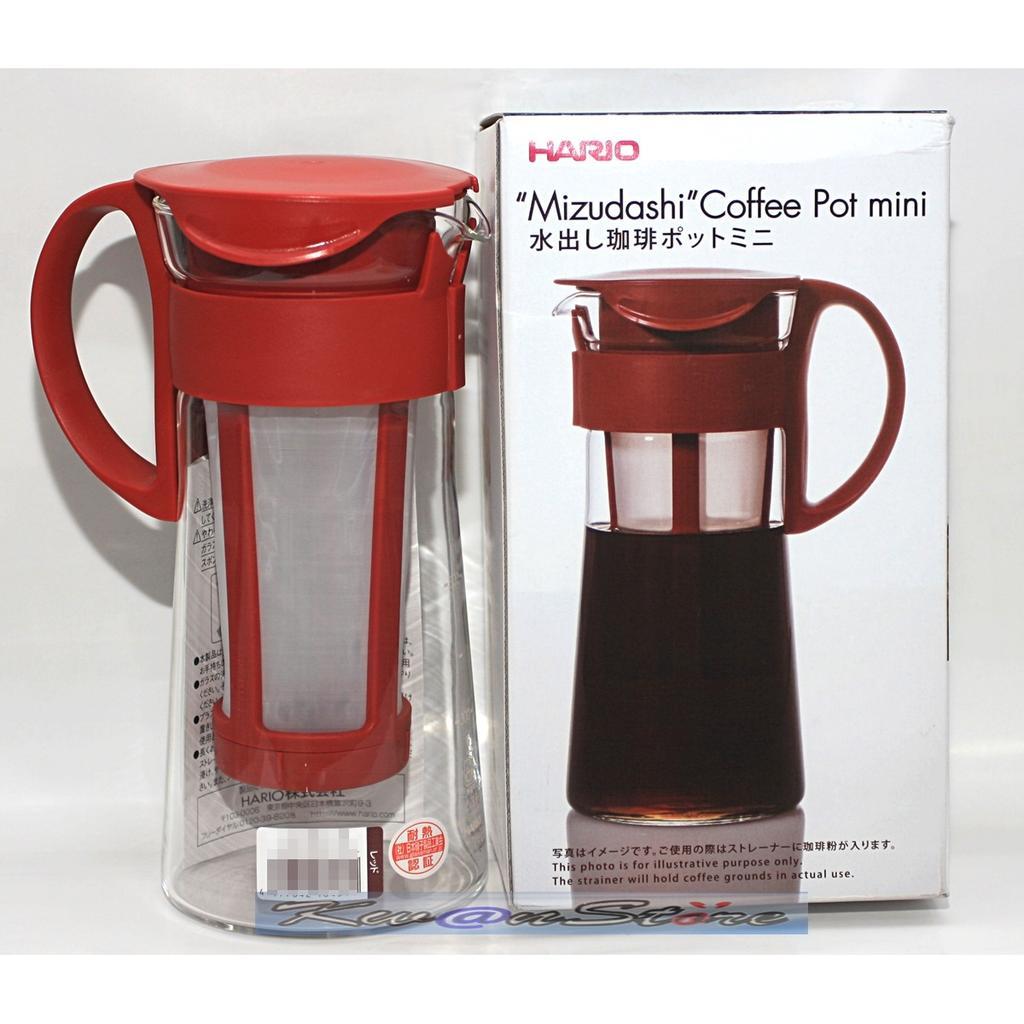 [紅色 600/1000ml]日本製Hario冰釀咖啡壺 泡茶壺 冷水壺 玻璃壺  花茶壺 耐熱玻璃