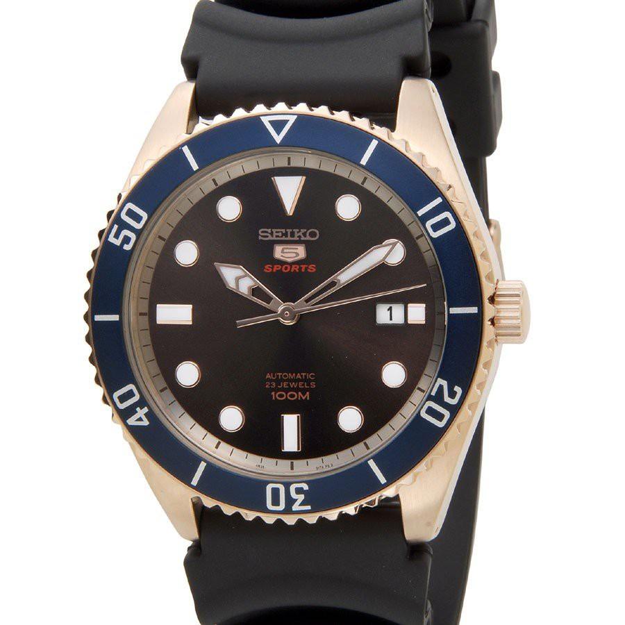 SEIKO 精工5號 大錶徑機械高質感男仕超霸膠帶腕錶 SRPB96K1 SRPB89J1深咖啡面