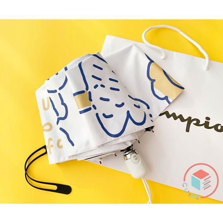 詩婷戶外【現貨】動物派對 抗UV 黑膠傘 雨傘 手動傘 自動傘 陽傘 大傘面 折疊傘 五折傘 快乾傘