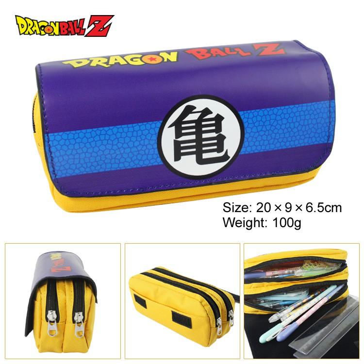 🌈筆袋 鉛筆盒 收納袋  七龍珠筆袋錢包 七龍珠動漫龜字悟字大容量雙層拉鏈筆袋錢包文具