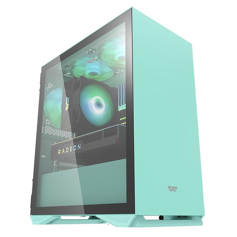darkFlash大飛 DLM22 薄荷綠 M-ATX 電腦機殼 薄荷綠機箱 (不含風扇)