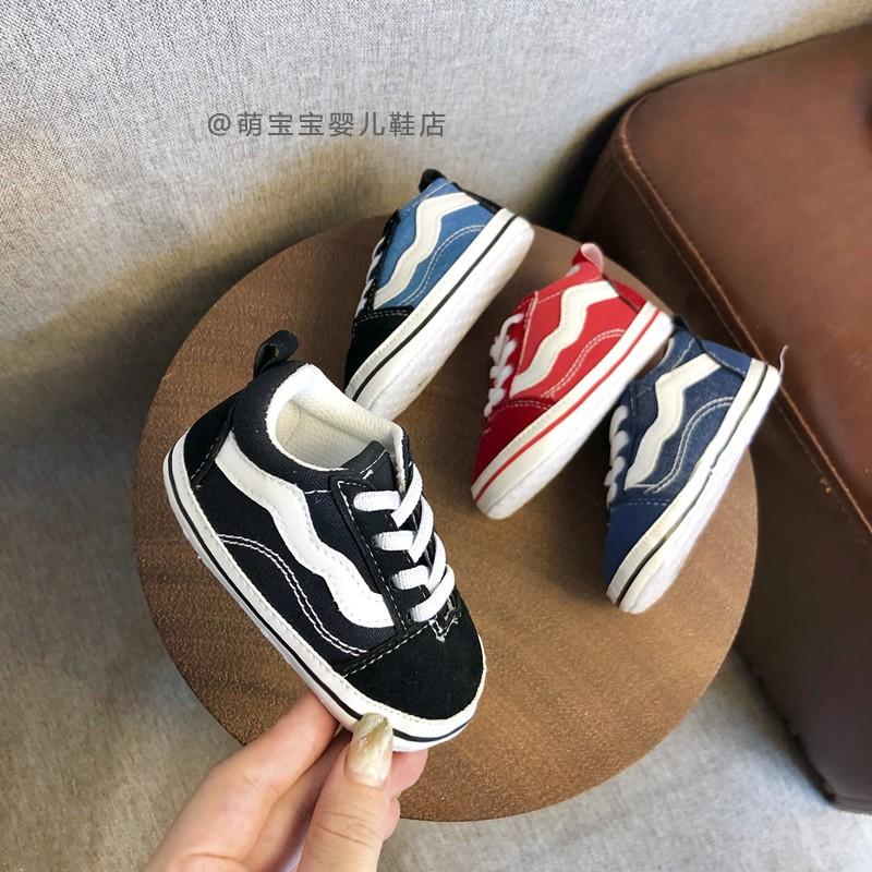 日系 寶寶鞋子0-1歲秋冬季軟底新生嬰兒布鞋3-6七八-12個月休閒學步鞋