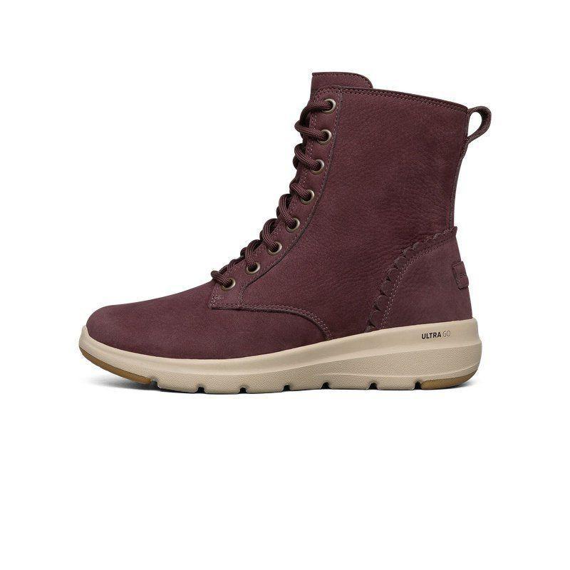 ㊣✪✯Skechers斯凱奇冬季新品保暖反☩毛皮中幫靴女子短靴雪地靴144156335新款≜≝