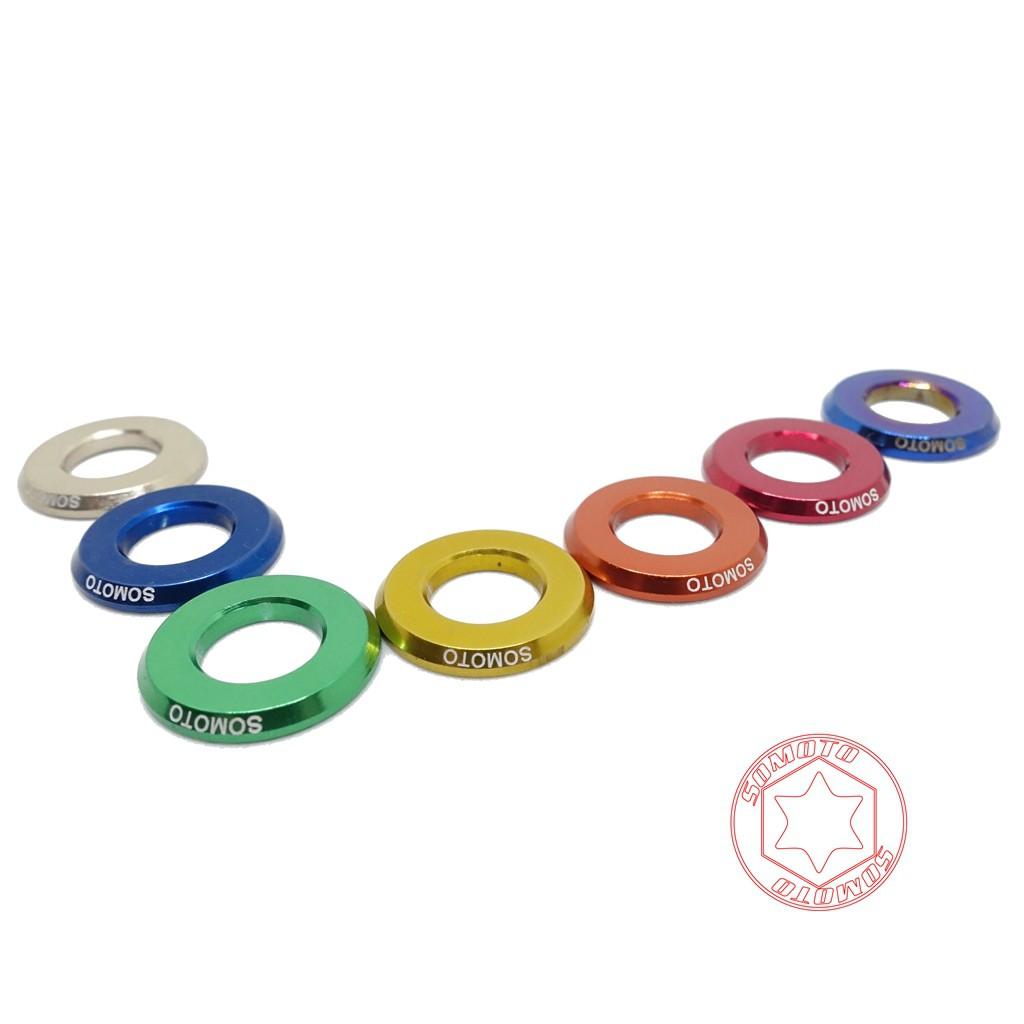 SOMOTO鎍銆客 燒鈦/多彩圓形墊片 M6 M8 M10 彩色墊片
