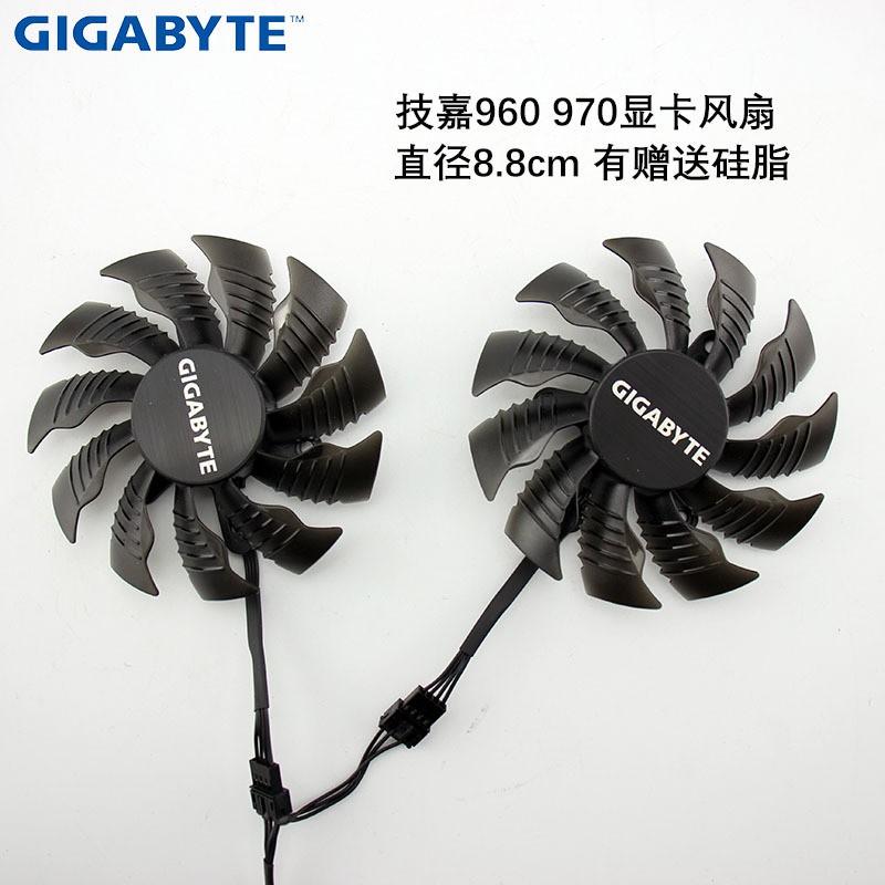 適用技嘉技嘉GTX960 970顯卡風扇T129215SU 0.5A4線溫度控制