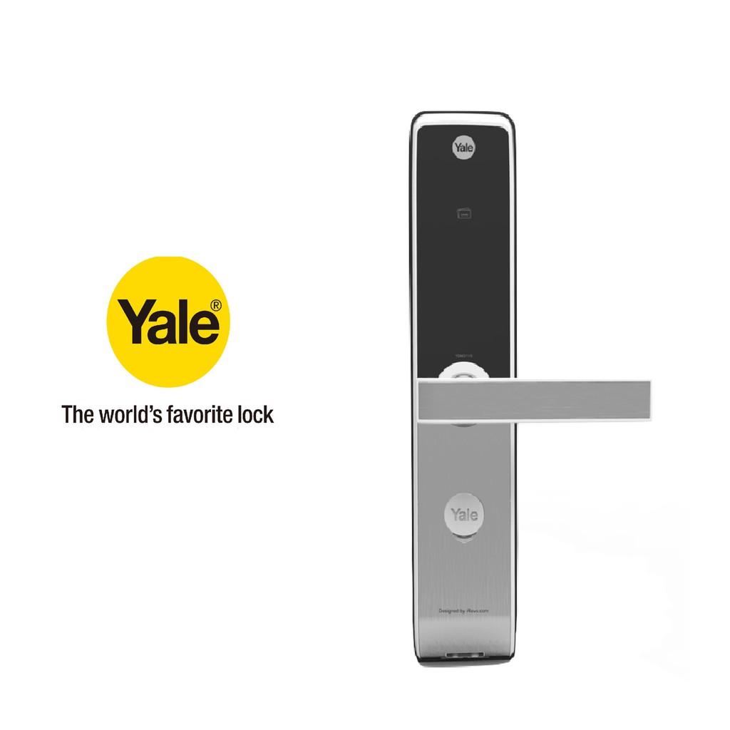 美國YALE 耶魯電子鎖YDM3115  卡片 密碼 機械鑰匙 多合一電子門鎖【原廠耶魯旗艦館】