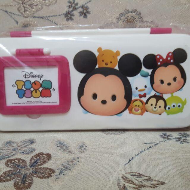 胖胖家族 迪士尼鏡梳組筆盒 迪士尼筆盒 米妮米奇 筆盒 跳跳虎 文具 三眼怪 筆盒 鉛筆盒 開學用品(原價160)