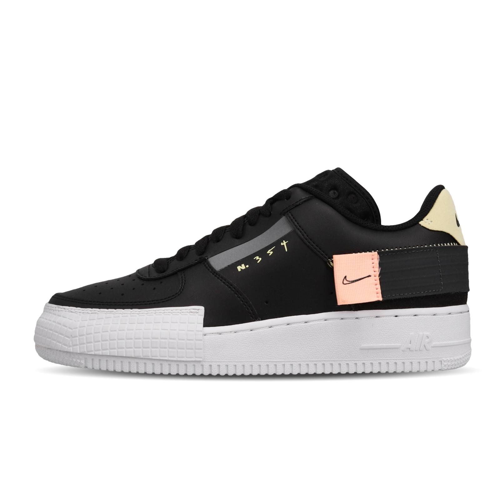 Nike 休閒鞋 Air Force 1 Type 黑 白 男鞋 解構 運動鞋 AF1 【ACS】 CI0054-001