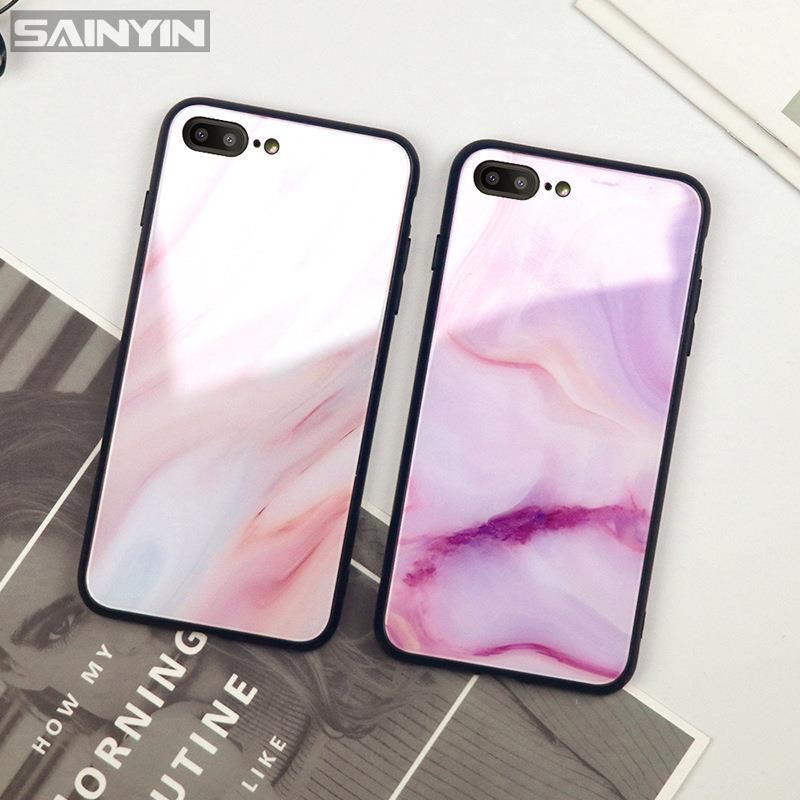 ▫☋✣適用華為nova7i nova6se 5t nova4e大理石nova8pro 3i玻璃手機殼
