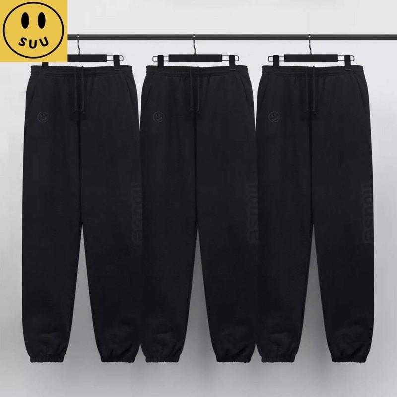 [Suu代購]Drew House 笑臉刺繡logo素色休閒長褲