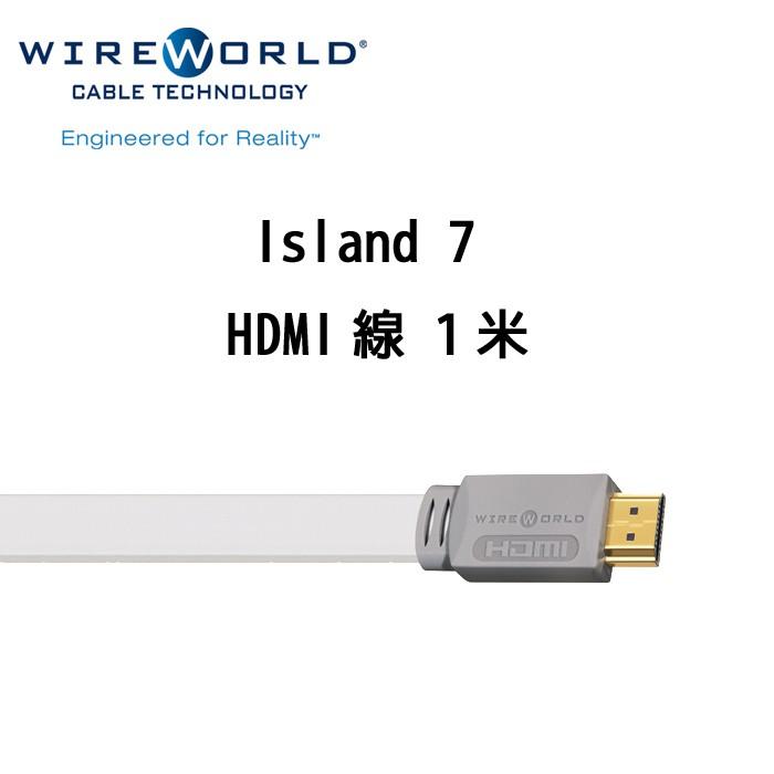 Wireworld 美國 Island 7 HDMI線 1米 4K 鍍金銀端子 無氧銅線材 公司貨