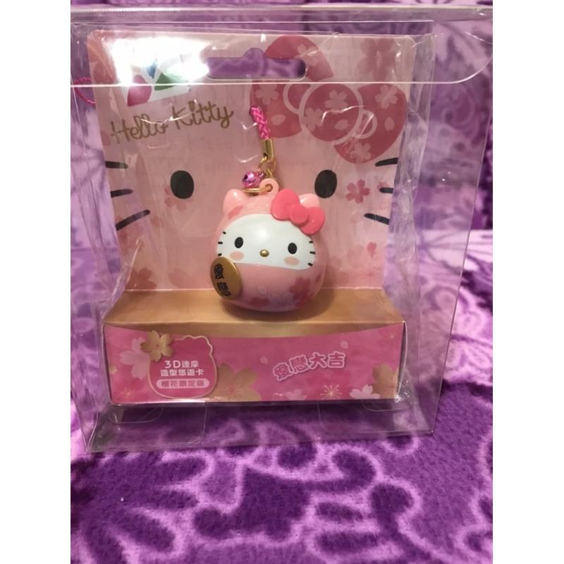 粉達摩 kitty悠遊卡(全新未拆附盒)