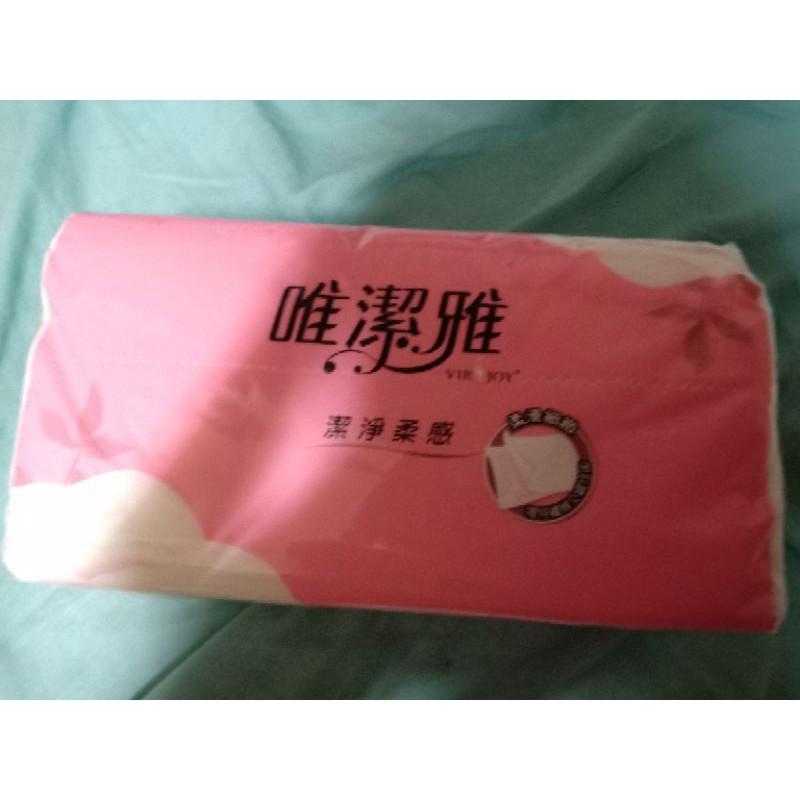 衛生紙 抽取式 唯潔雅100抽單張尺寸:190mm*175mm(CNS許可差±5%)