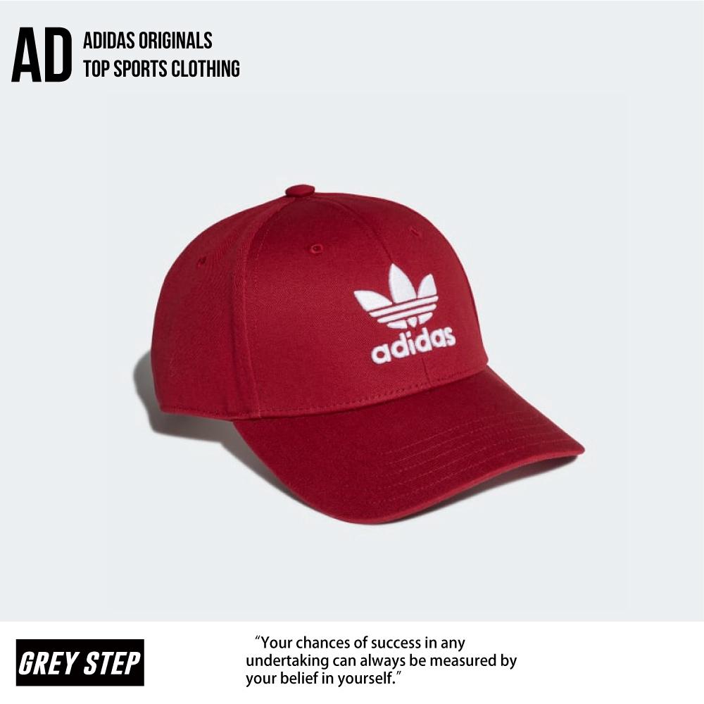 Adidas 愛迪達 三葉草 老帽 帽子 運動帽 FM1324 紅色 全新正品 統一發票