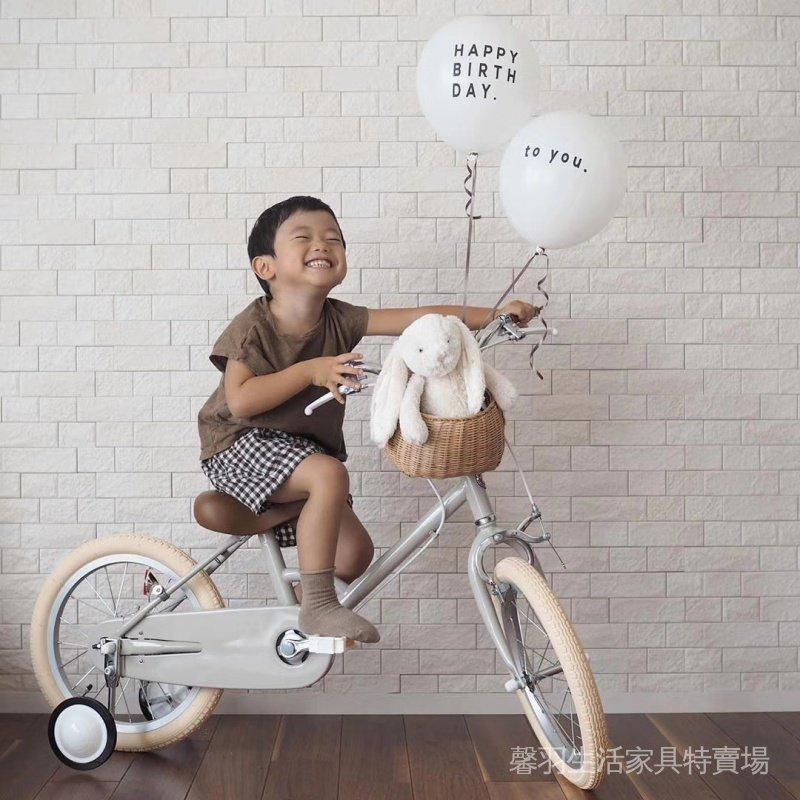 ❤️新品熱銷❤️復古兒童自行車2-3-8歲女孩16寸中大童輕便單車超輕公主款腳踏車