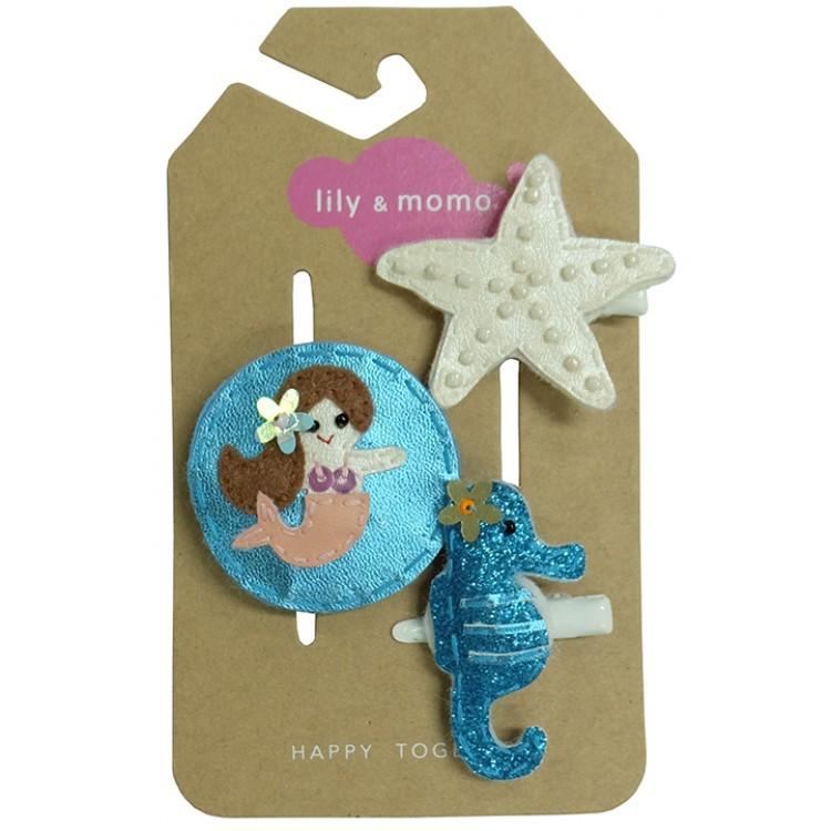 【美國 Lily & Momo】手工童趣髮飾- 美人魚之吻 #HCA334