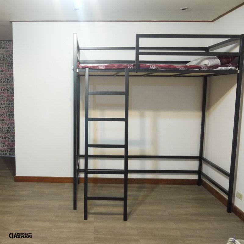 單人床架高加大床 3.5尺【空間特工】38mm方管 床架設計 消光黑 高架床 寢具 挑高床 O2C718