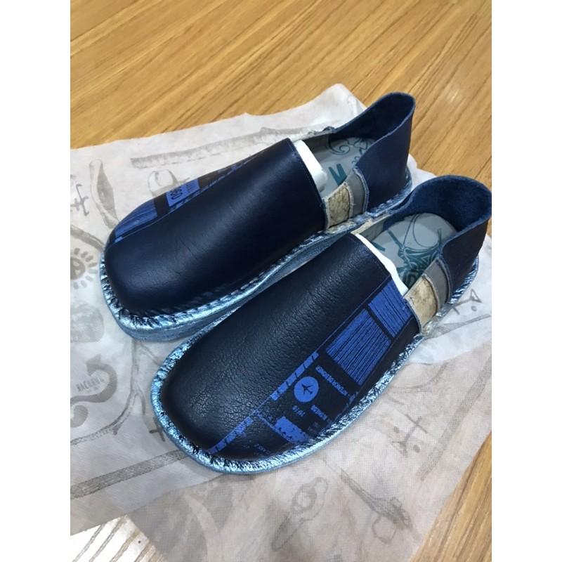 義大利 麥坎納 MACANNA 全新 時尚 麵包鞋 男鞋 精品 休閒鞋 深藍 附鞋袋 附鞋盒 好鞋 MXXM032260