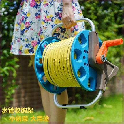 水管收納架 洗車機洗車水管收納車繞輪收線器收納架耐用器盤延長掛式卷線器