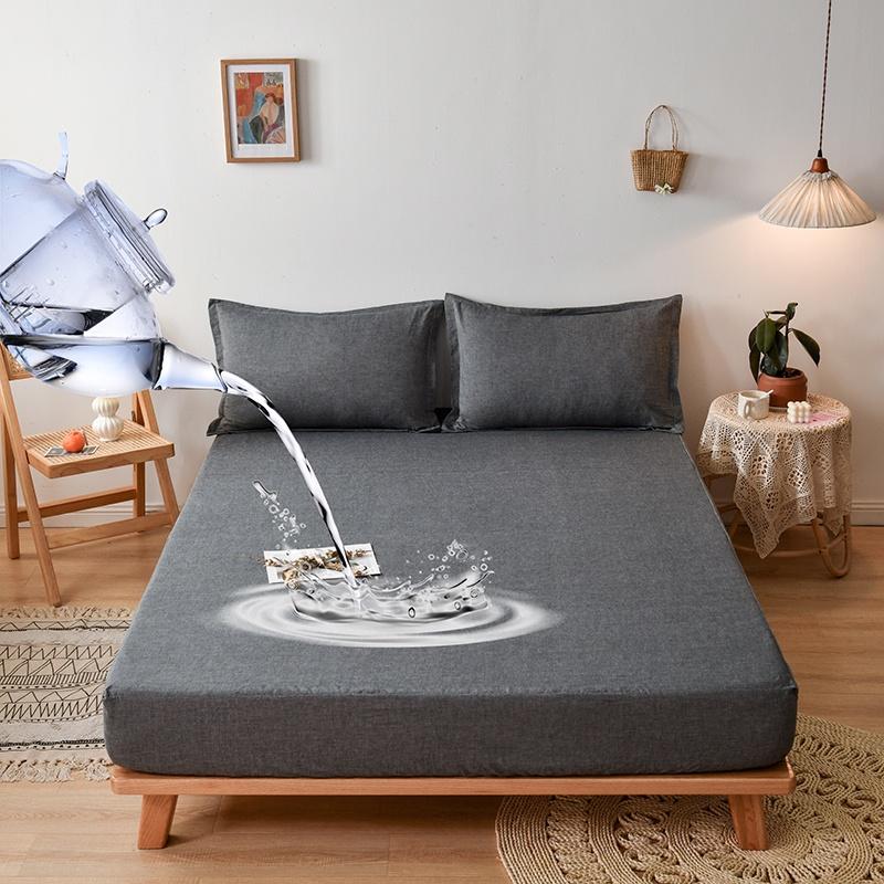 100%防水透氣保潔墊 純色 防水床包 防水床單 防水床笠 防水床罩 吸汗 透氣 裸睡床包 /單人/雙人/加大/ 床包式