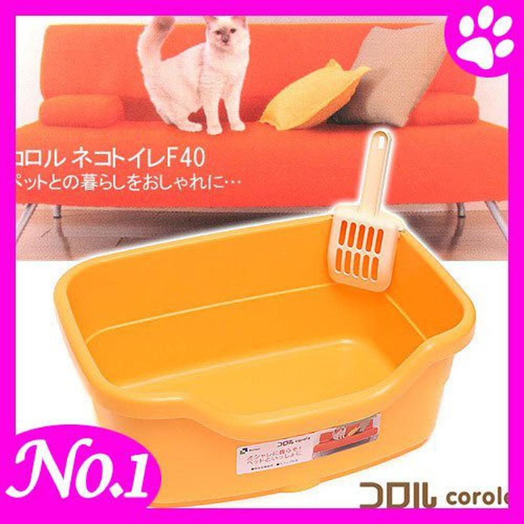 -日本Richell 卡羅籠內用小型貓砂盆  附砂鏟  貓尿盆好用不佔空間  可籠內使用