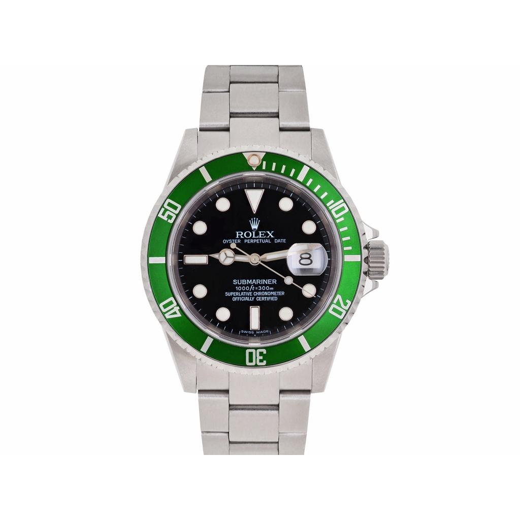 【久大御典品】ROLEX 勞力士16610LV【Kermit】 綠水鬼 絕版 附原廠盒 錶況極美  編號:N10051