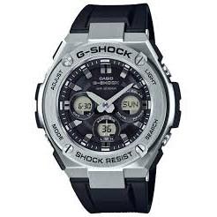 【KAPZZ】CASIO G SHOCK 太陽能 銀色錶殼 & 黑色膠帶 GST-S310-1A