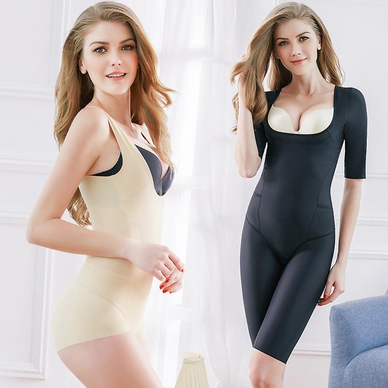 修身塑身衣香妮美人計無痕薄款塑身衣連體內衣產后收腹提臀燃脂美體衣正品