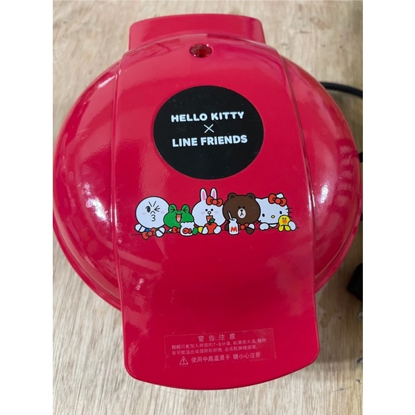 @睿睿代購@line friends 聯名hello kitty 造型鬆餅機 二手 line 鬆餅機 屈臣氏 聖誕禮物
