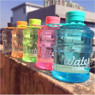 迷你 mini【水桶杯】韓國 water bottle 飲水機 創意 個性 水杯 650ml 玻璃水杯 汽水瓶 CAP 臺南市