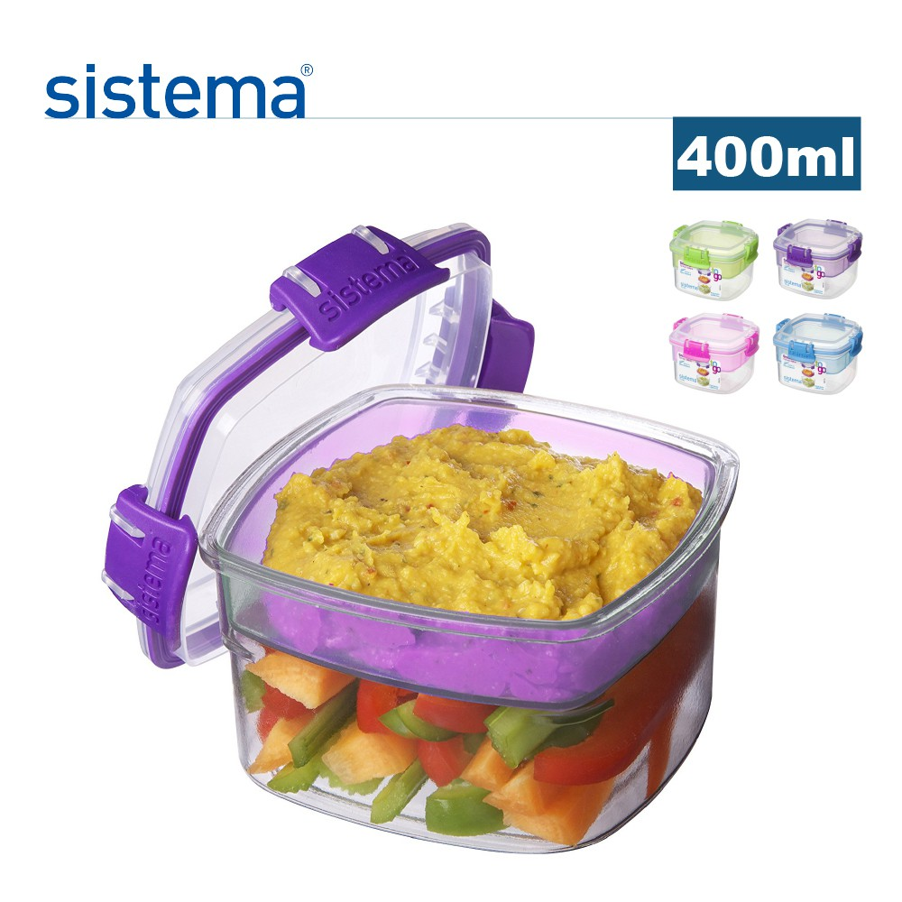 sistema 紐西蘭進口野餐優格雙層保鮮罐-400ml #顏色隨機#
