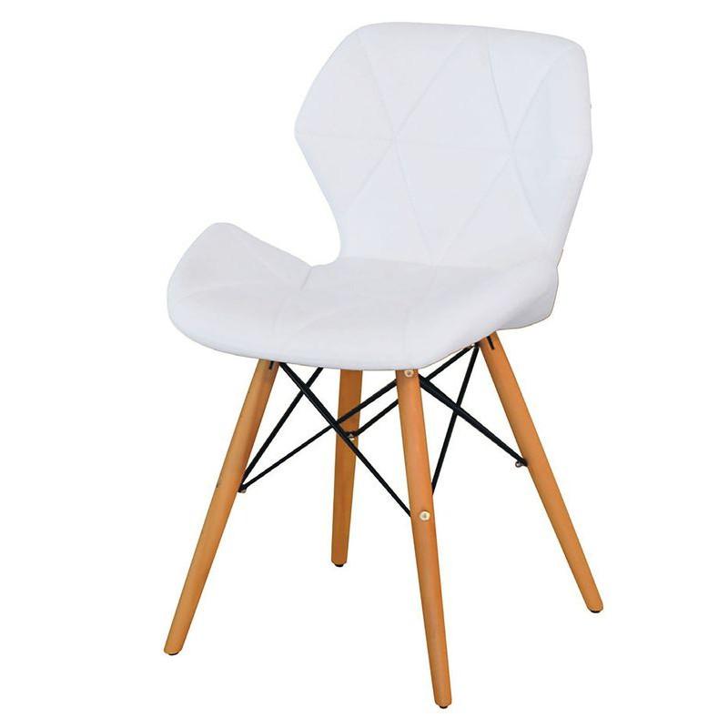 【KB330-5】雷達造型椅(白色)(皮)