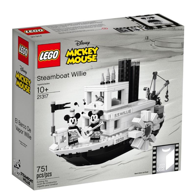 盒損特價 正版 全新未拆封 LEGO 樂高 21317 樂高 ideas系列 迪士尼 威利蒸汽船