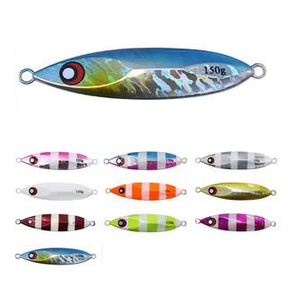 [10色]40g/ 60g/ 80g/ 100g/ 120g/ 路亞鐵板鉛魚餌 仿生金屬 慢搖夜光海釣夜釣船釣鮁魚帶魚漁餌