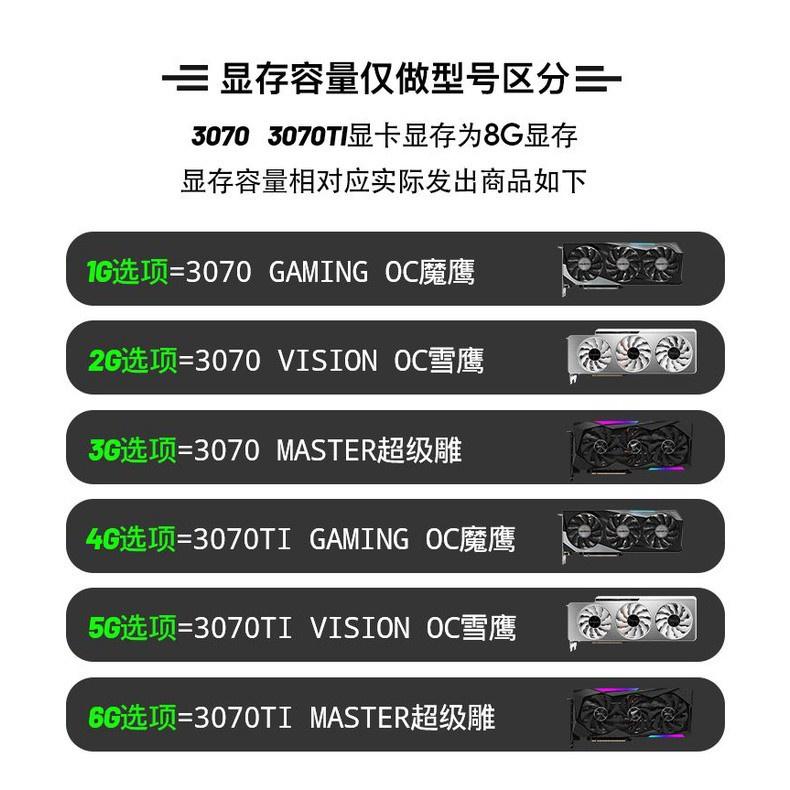蝦皮精選~技嘉RTX3070TI GAMING OC 8G魔鷹雪鷹AORUS超級雕MASTER顯卡3070