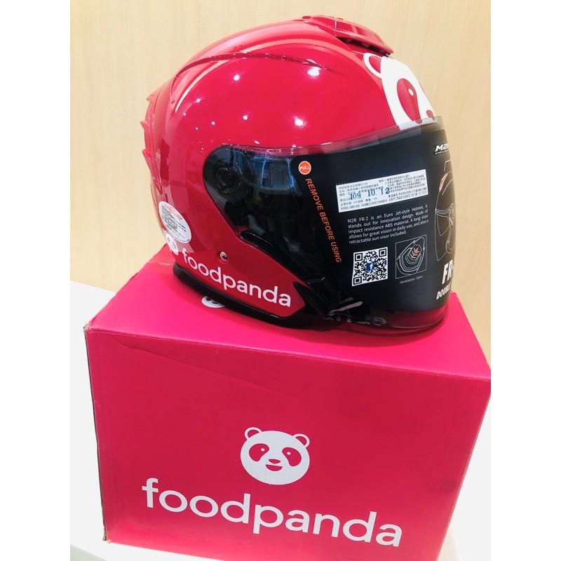 (現貨)最新  M2R   Foodpanda 安全帽 熊貓安全帽 全新XL