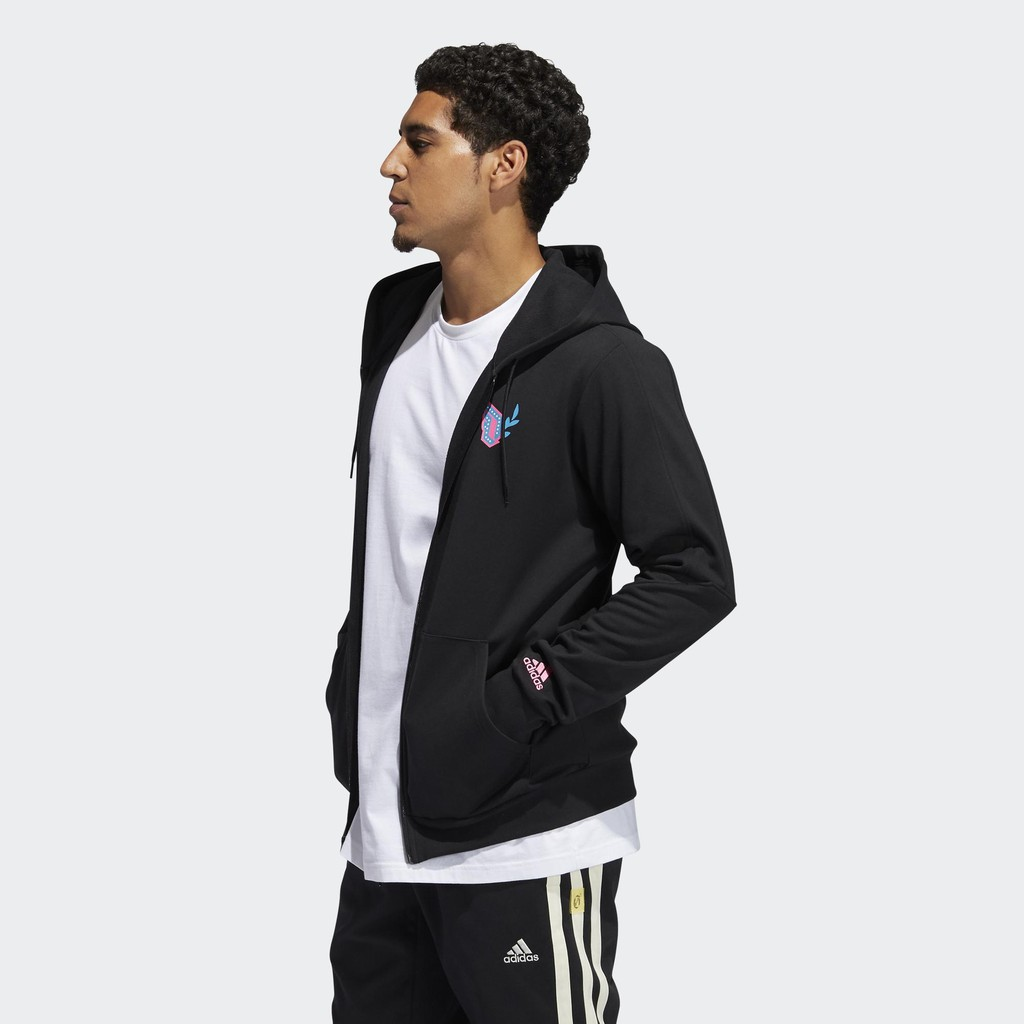 現貨 iShoes正品 Adidas Dame DOTD 男款 黑 連帽外套 街頭 運動 休閒 外套 GP6259