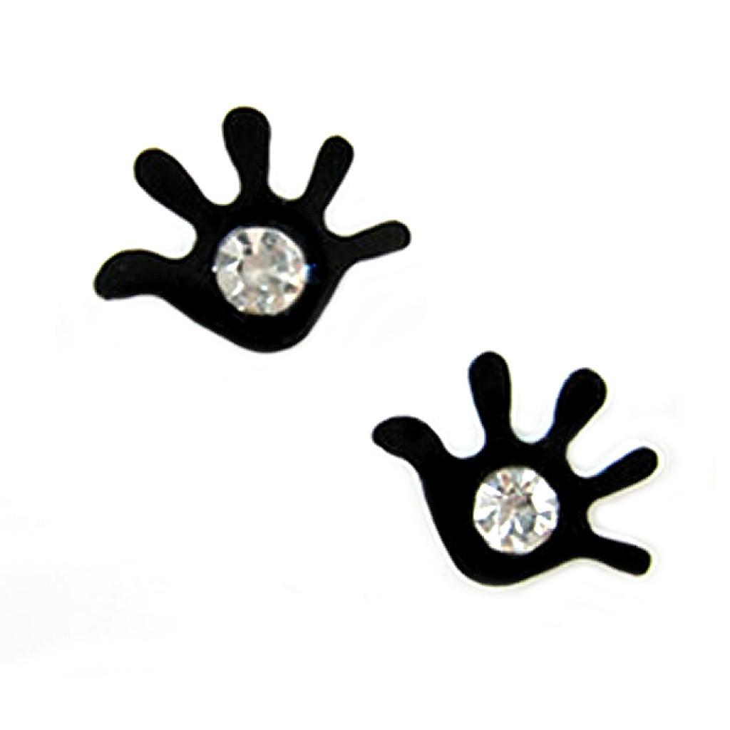 手掌水鑽磁石耳環【B1410】有耳洞.無耳洞都可用 耳骨環 不用耳洞 艾豆