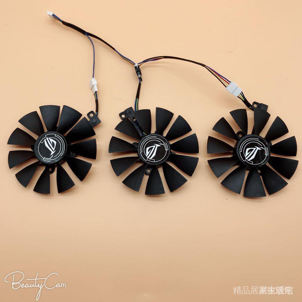 【現貨 秒發】甩賣 華碩猛禽ROG STRIX GTX1060 1070 1080TI 顯卡風扇三風扇顯卡專用 8K73