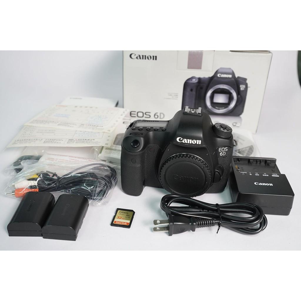 [攝手座二手器材]Canon 6D 單機身(B機) 快門125,198 公司貨過保 盒單齊