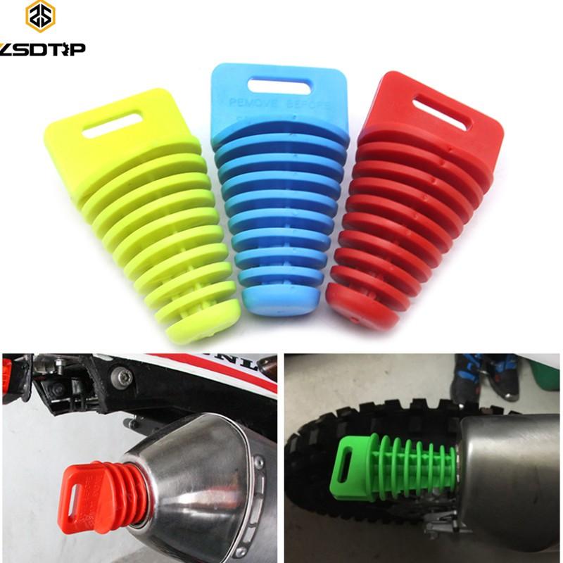 Zsdtrp 摩托車排氣管越野摩托車尾管 Pvc 空氣放氣塞消音器消音器