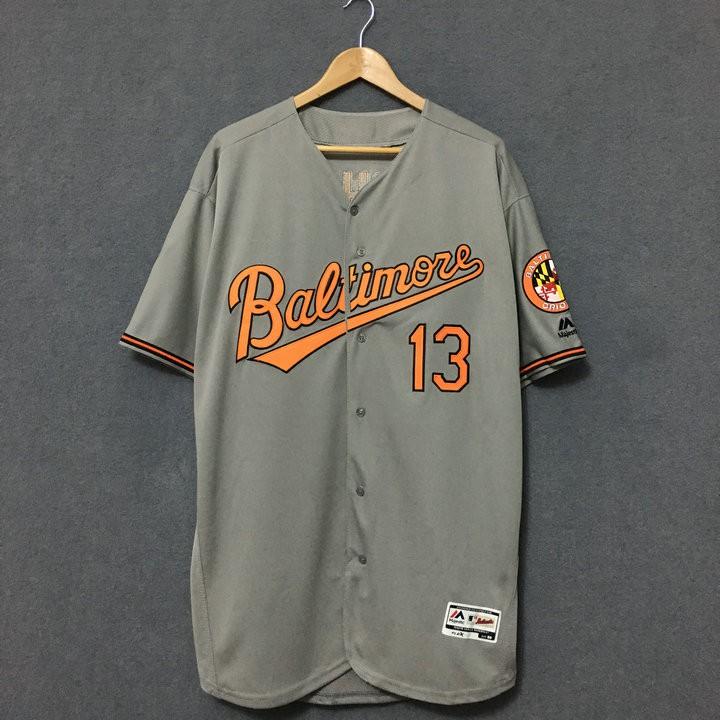 MLB球衣棒球球衣巴爾的摩金鶯隊短袖棒球服加肥加大hiphop球衣嘻哈運動服