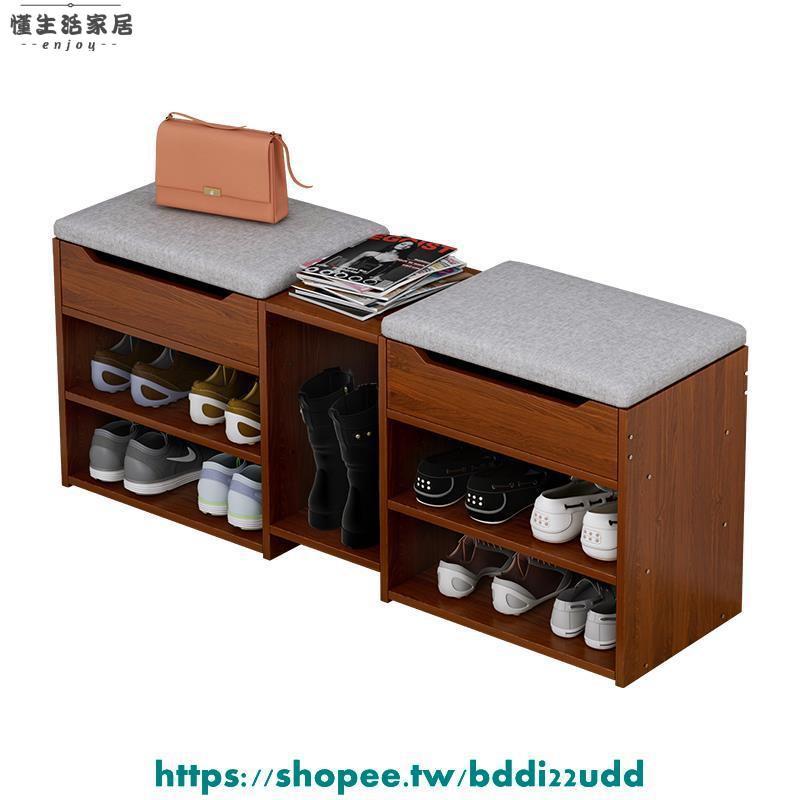 門口 鞋櫃 玄關櫃 換鞋凳現代簡約家用門口經濟型入門凳可坐鞋柜客廳多功能儲物凳子