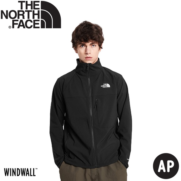 【The North Face 男 防風防潑水立領可套接外套AP《黑》】49ER/防風外套/薄夾克