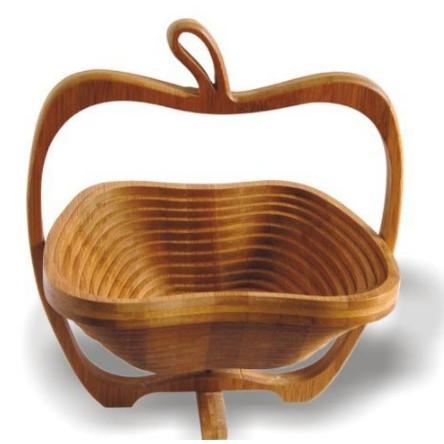 (大趣味)【日式竹藝折疊水果籃】多功能方便攜帶 收納 竹製質折疊籃