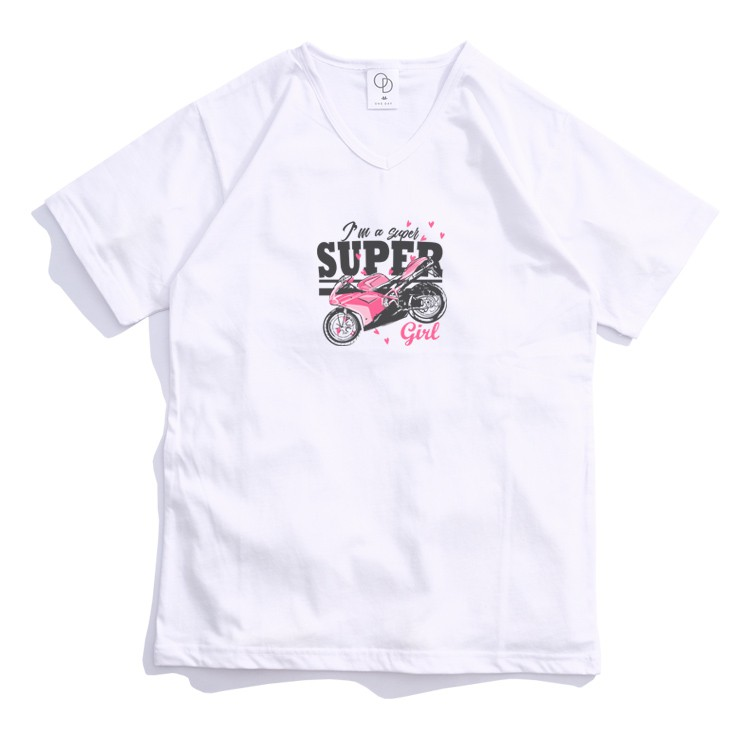 ONE DAY 台灣製 161C301 V領素T 寬鬆衣服 短袖衣服 衣服 T恤 短T 素T 短袖T恤 V領T恤