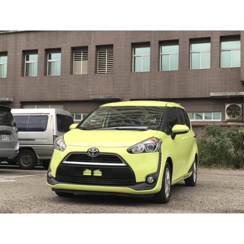 【阿彥嚴選認證車-Yencar】'2017年 Sienta 7人座 綠 、中古車、二手車、全額貸、車換車