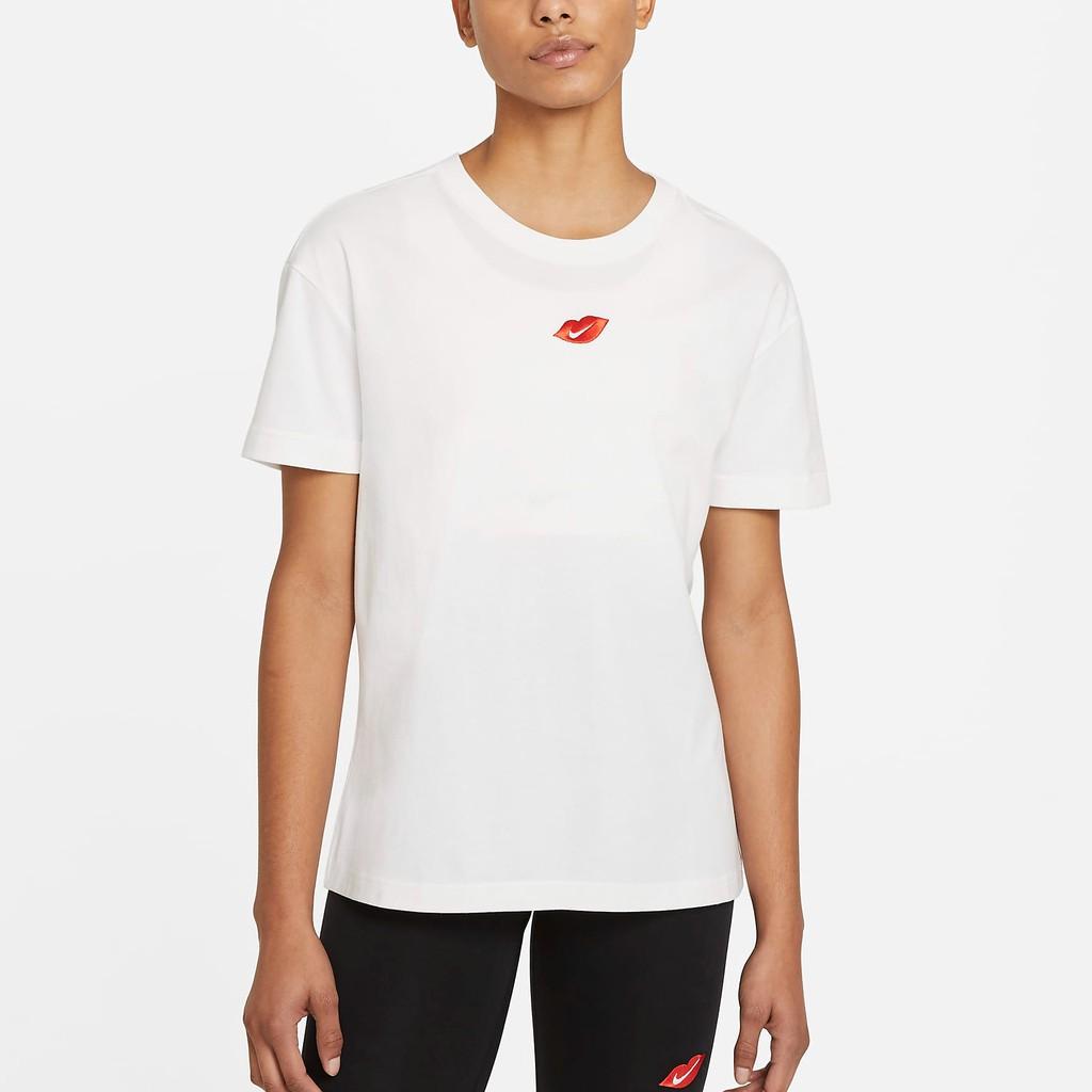 NIKE 女 短袖 T恤 Sportswear DB9819100 (202103) Swoosh 寬鬆 刺繡 情人節
